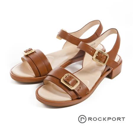 ROCKPORT (女) 都會雅仕系列 珠面氣墊涼鞋-咖啡