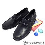 Rockport (男) 皮帶裝飾直接套穿紳士皮鞋-黑