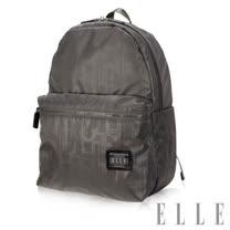 ELLE 法式優雅休閒輕細尼龍防潑水iPad/13吋筆電後背包-優雅灰EL83829-09