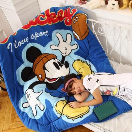 Disney迪士尼㊣版米奇《純真喝采-藍》多功能毯被
