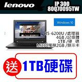 Lenovo IdeaPad 300(80Q70095TW)六代處理器獨顯 《送原廠包包+ +1TB硬碟》 /I5-6200U 滿額再折購物金