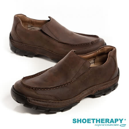 SAPATOTERAPIA(男) 巴西舒適寬板直套有機休閒鞋-深咖(另有黑)
