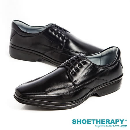 SAPATOTERAPIA(男) 巴西超輕量綁帶皮鞋-黑