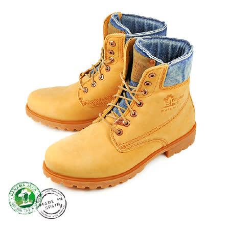 【Panama Jack】03 Wash男仕牛仔休閒鞋/短靴 黃駝色(P3501-VIN)