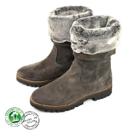 【Panama Jack】Tania時尚保暖女靴/毛靴/雪靴 灰棕(P3305W-GRY)