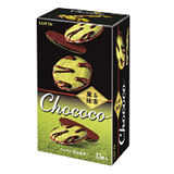 LOTTE Chococo抹茶薄燒餅乾98.6g