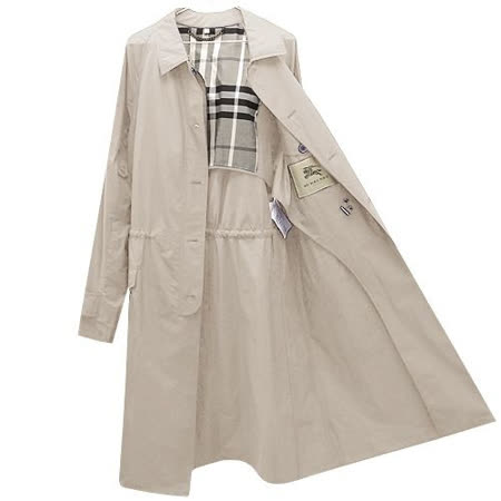 BURBERRY 英倫卡其色單排釦紳士長版風衣外套(US 38號/M號)