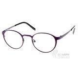JULIO眼鏡 文青半圓框款(紫-黑) #KOELN PUR