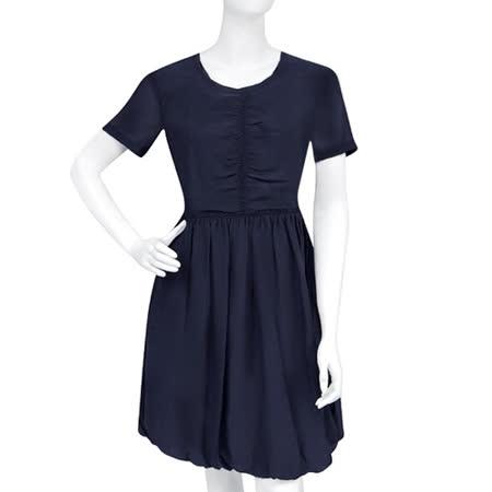 BURBERRY 條紋短袖洋裝-藏青色(US 8號)