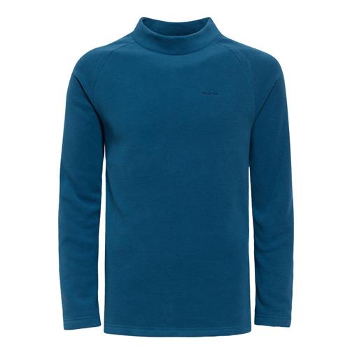 【hilltop山頂鳥】男款Zisofit保暖刷毛立領上衣H51ME8-藍