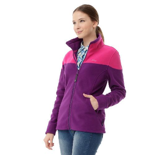 【hilltop山頂鳥】女款WINDSTOPPER抗風超撥水刷毛外套H22FR6-紫