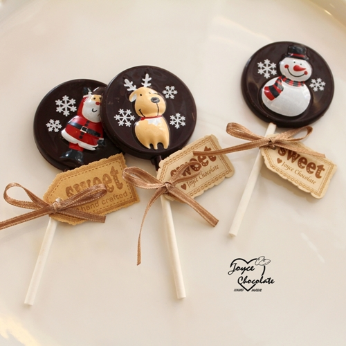 JOYCE巧克力工房- 聖誕節限定版巧克力棒棒糖【10支/組】