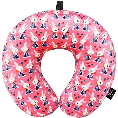 《DQ》緩衝顆粒sogo 禮 卷護頸枕(粉紅兔)