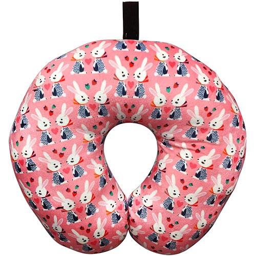 《DQ》U型兒童護頸遠東 百貨 板橋 週年 慶枕(粉紅兔)