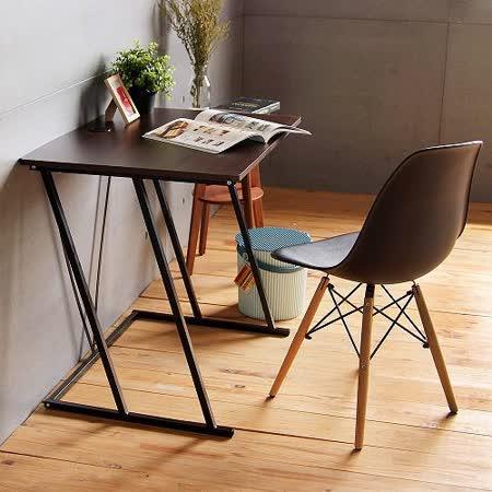 《Peachy life》工業風曲線設計寬80電腦桌/書桌/工作桌(2色可選)