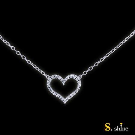 【光彩珠寶】鉑金鑽石項鍊 無限愛