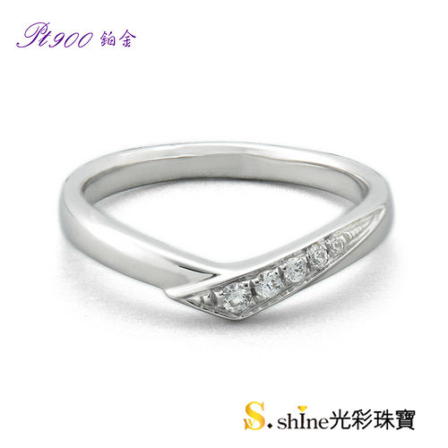 【光彩珠寶】鉑金結婚戒指 女戒 執子之手
