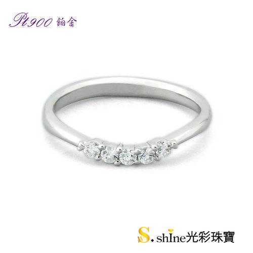 【光彩珠寶】鉑金結婚戒指 女戒 堅貞