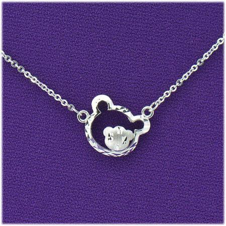 【光彩珠寶】鉑金項鍊 熊寶貝