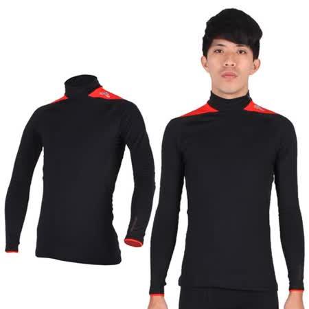 (男) ADIDAS 保暖長袖上衣- 愛迪達 長T恤  刷毛 黑橘