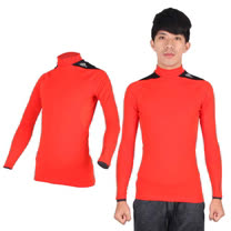(男) ADIDAS 保暖長袖上衣- 愛迪達 長T恤  刷毛 橘黑