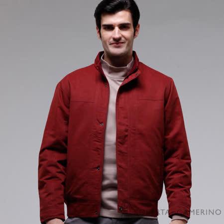 ROBERTA諾貝達 台灣製 休閒百搭 內裡舖棉 夾克外套 暗紅色