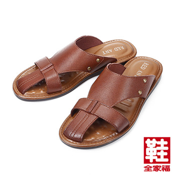 (男) RED ANT  流行拖鞋 咖 鞋全家福