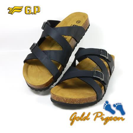 【G.P 休閒個性柏肯鞋】M351-10 黑色 (SIZE:40-44 共二色)
