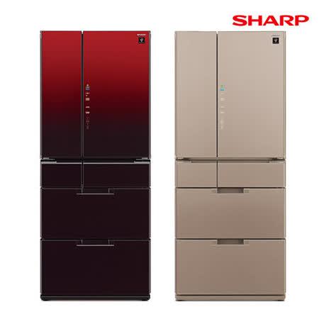 SHARP夏普601L日本原裝六門對開冰箱SJ-GF60BT
