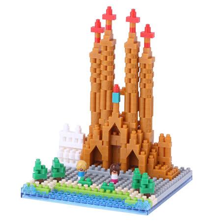 《Nano Block迷你積木》【世界主題建築系列】NBH-098聖家堂