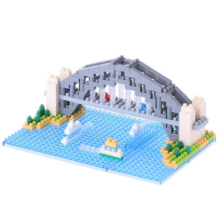 《Nano Block迷你積木》【世界主題建築系列】NBH-101雪梨港灣大橋