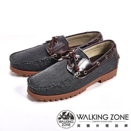 WALKING ZONE(男)情侶款復刻拼接雷根鞋(黑色)男鞋