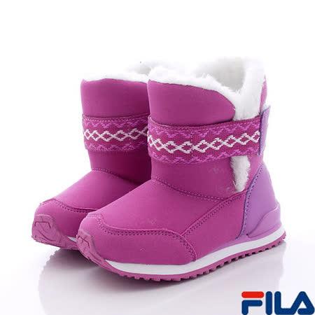 FILA頂級童鞋-時尚暖靴-831P-991紫-(17cm~23cm)