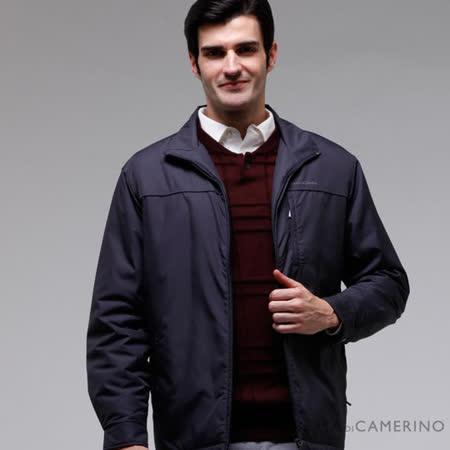 ROBERTA諾貝達 台灣製 外表防潑水內裡舖棉夾克外套 灰藍色