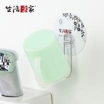 【生活采家】樂貼系列台灣製304不鏽鋼浴室用瀝水單杯架(2入組)#99398