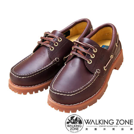 WALKING ZONE(男)經典復刻雷根鞋(酒紅色)小牛皮手工-男_男女款尺寸皆有