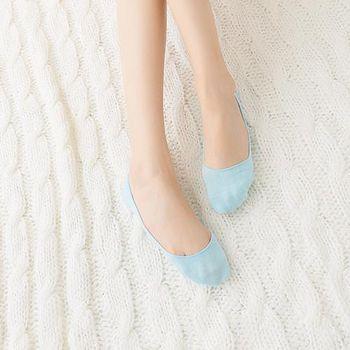 蒂巴蕾Deparee 蒂巴蕾  動身體 無痕foot cover  隱型襪  --素面 自然灰/桃/寶藍