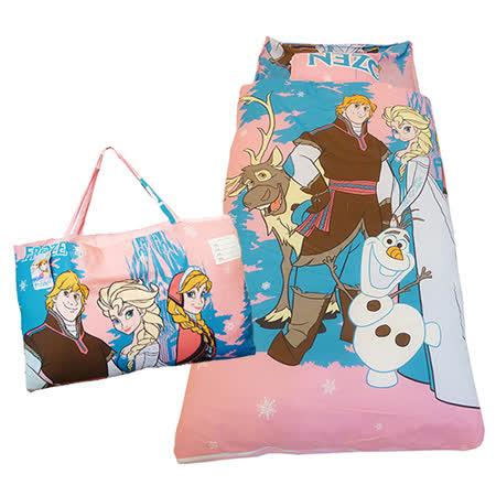 【冰雪奇緣】FROZEN二用幼教兒童睡袋-經典人物篇(粉紅)