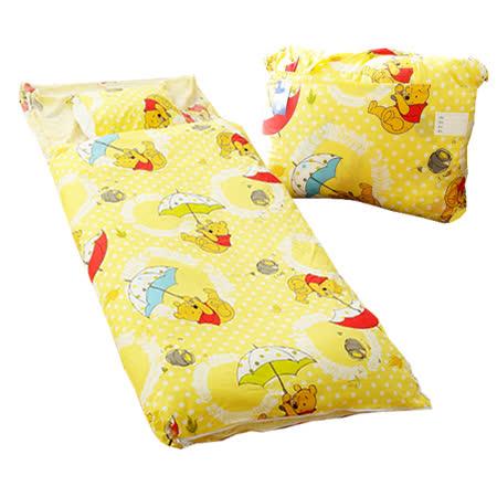 【迪士尼】DISNEY小熊維尼二用幼教兒童睡袋-飛翔篇(黃)