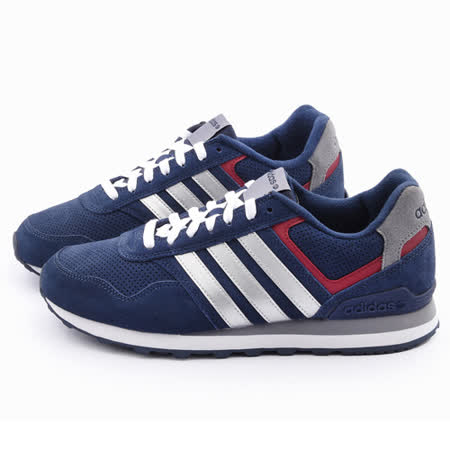 Adidas 男款 RUNEO 10K輕量慢跑鞋F98291-藍銀