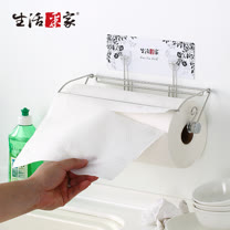 【生活采家】樂貼系列台灣製304不鏽鋼廚房用大尺寸捲筒紙巾架#27208