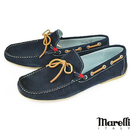 【marelli】手工縫製帆船鞋 藍色(27622-NAS)