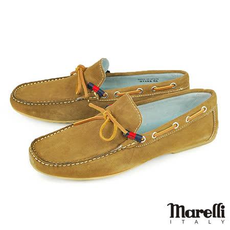 【marelli】手工縫製帆船鞋 駝色(27622-TAUS)