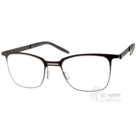 MARKUS T眼鏡 純鈦系列方框款(灰) #MTT332 C015
