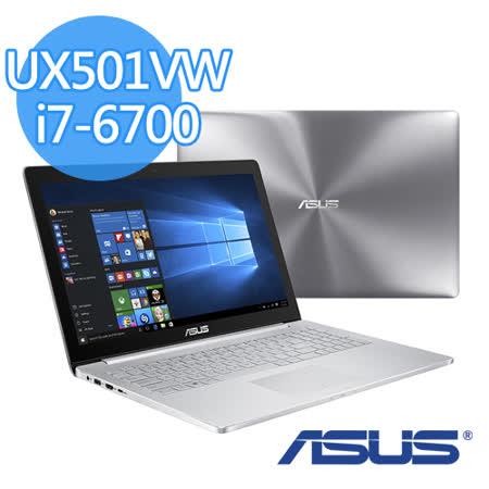 ASUS 華碩 UX501VW 15.6吋QFHD i7-6700HQ 1TB+128G SSD GTX 960M 極致效能筆電-【送華碩外接DVD燒錄機+32G隨身碟+USB散熱墊+滑鼠墊】