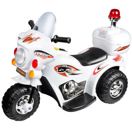寶貝樂 皇家警察兒童電動摩托車/電動機車-白色