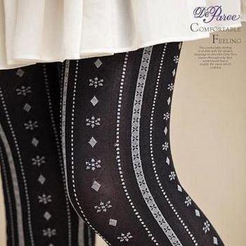 蒂巴蕾 Deparee ART  綻放彈性褲襪60D  飄逸 色紗灰/色紗紫