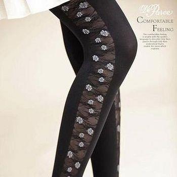 蒂巴蕾 Deparee ART  綻放彈性褲襪60D 瑪格莉特 色紗灰/色紗淺灰