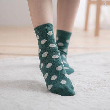 蒂巴蕾 Deparee 兔羊毛襪 可愛點點