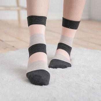 蒂巴蕾 Deparee Chic 流行教主 warm socks 拼色條紋